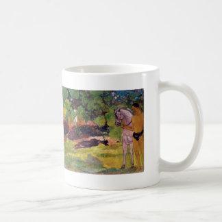 Paul Gauguin- In the Vanilla Grove, Man and Horse Coffee Mug