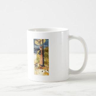 Paul Gauguin-Jeanne d'Arc, or Breton girl spinning Coffee Mugs