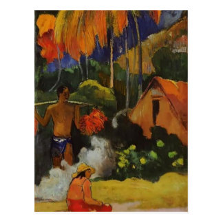 Paul Gauguin- la hora de la verdad II Tarjeta Postal