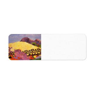 Paul Gauguin- la montaña sagrada Etiqueta De Remite