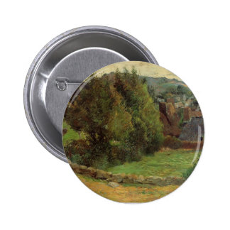 Paul Gauguin- Landscape at Pont-Aven Pinback Buttons