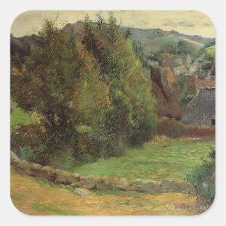 Paul Gauguin- Landscape at Pont-Aven Stickers