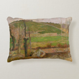 Paul Gauguin - Landscape near Pont-Aven Decorative Pillow