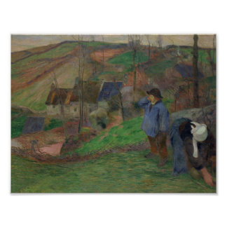 Paul Gauguin - Landscape of Brittany Poster