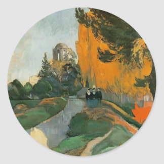 Paul Gauguin- Les Alyscamps Round Sticker
