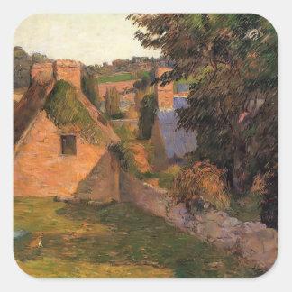 Paul Gauguin- Lollichon Field Square Stickers