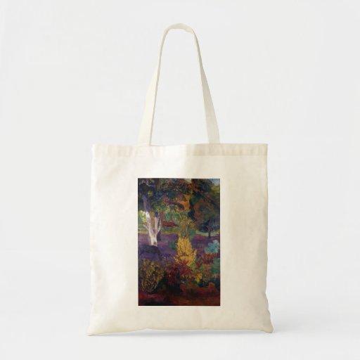 Paul Gauguin- Marquesan landscape with horses Bags