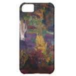 Paul Gauguin- Marquesan landscape with horses iPhone 5C Cover