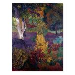 Paul Gauguin- Marquesan landscape with horses Postcard