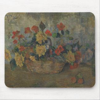 Paul Gauguin - Nasturtiums and Dahlias Mouse Pad