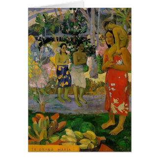 Paul Gauguin- Orana Maria (granizamos Thee Maria) Tarjetón