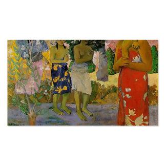 Paul Gauguin- Orana Maria (granizamos Thee Maria) Tarjetas De Visita