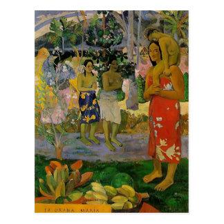 Paul Gauguin- Orana Maria (granizamos Thee Maria) Postal