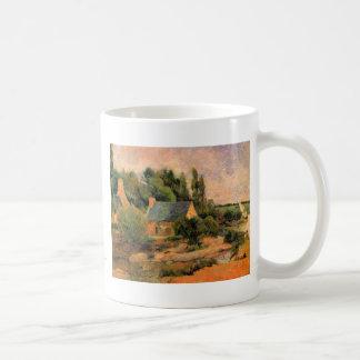 Paul Gauguin painting Washerwomen at Pont-Aven art Classic White Coffee Mug