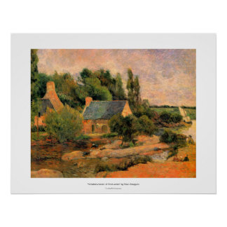 Paul Gauguin painting Washerwomen at Pont-Aven art Poster