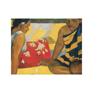 Paul Gauguin - Parau Api. What News Canvas Print