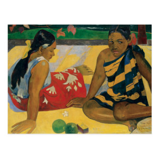 Paul Gauguin - Parau Api. What News Postcard