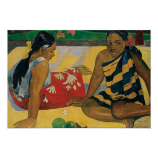 Paul Gauguin - Parau Api. What News Poster