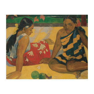 Paul Gauguin - Parau Api. What News Wood Wall Art
