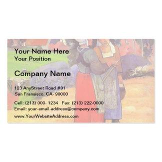 Paul Gauguin- Paysannes bretones Business Card Template