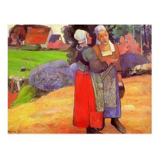 Paul Gauguin- Paysannes bretones Postcard