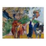 Paul Gauguin-Peasant Woman and Cows in a Landscape Post Cards