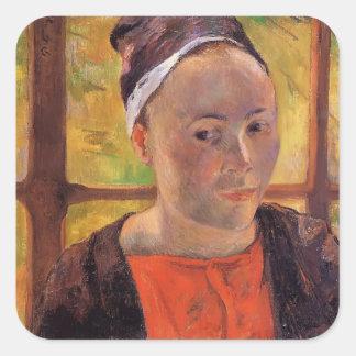 Paul Gauguin- Portrait of a woman (Marie Lagadu) Sticker