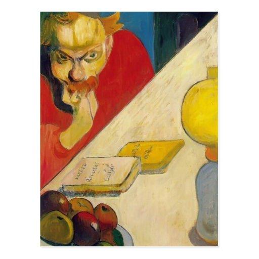 Paul Gauguin- Portrait of Meyer Haan by Lamplight Postcard