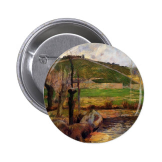 Paul Gauguin- River Aven below moun St Marguerite Pinback Button