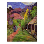 Paul Gauguin- Road in Tahiti Post Card