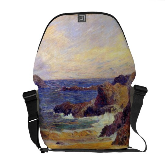 Paul Gauguin - Rocky Coast Fine Art Painting Messenger Bag