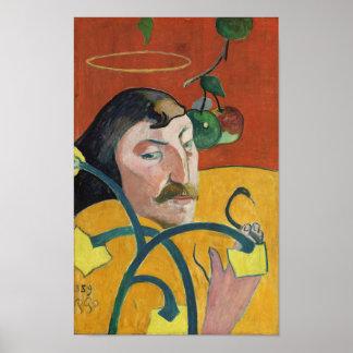 Paul Gauguin Self Portrait Fine Art Painting Poster