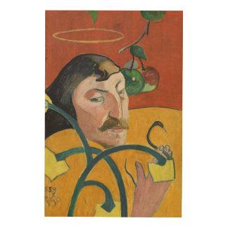Paul Gauguin Self Portrait Fine Art Painting Wood Canvas