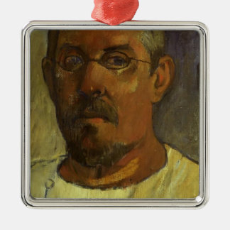 Paul Gauguin- Self portrait with spectacles Christmas Tree Ornaments