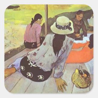 Paul Gauguin- Siesta Square Sticker