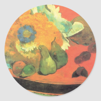 Paul Gauguin still life Classic Round Sticker