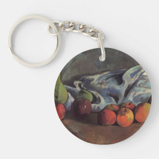 Paul Gauguin-Still life with apples and green vase Acrylic Key Chain