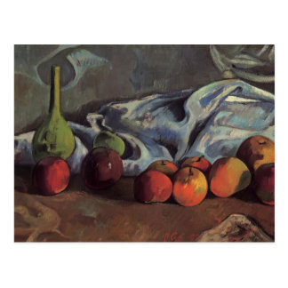 Paul Gauguin-Still life with apples and green vase Postcard