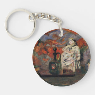 Paul Gauguin- Still life with carafe and ceramic Acrylic Key Chain