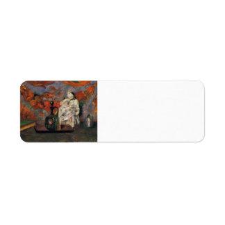 Paul Gauguin- Still life with carafe and ceramic Return Address Label