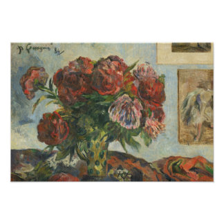 Paul Gauguin - Still Life with Peonies Poster