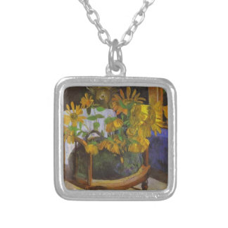 Paul Gauguin- Still Life with Sunflowers, armchair Custom Jewelry