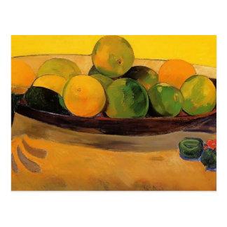 Paul Gauguin- Still life with Tahitian oranges Postcard