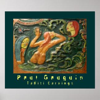 Paul Gauguin: Tahiti Carvings Poster