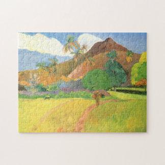 Paul Gauguin, Tahitian Landscape, Mountains Tahiti Jigsaw Puzzle
