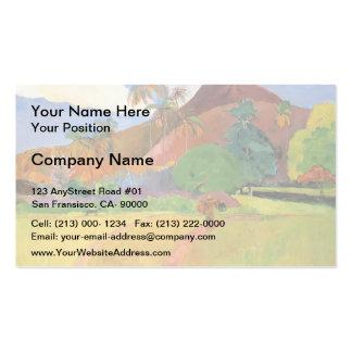 Paul Gauguin- Tahitian mountains Business Card Template