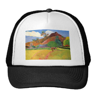Paul Gauguin- Tahitian mountains Trucker Hat