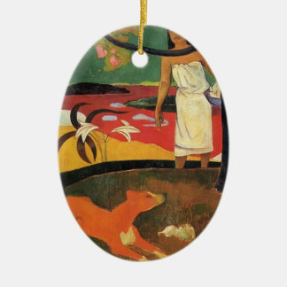 Paul Gauguin- Tahitian pastorale Ceramic Ornament