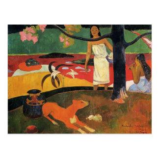 Paul Gauguin- Tahitian pastorale Postcard