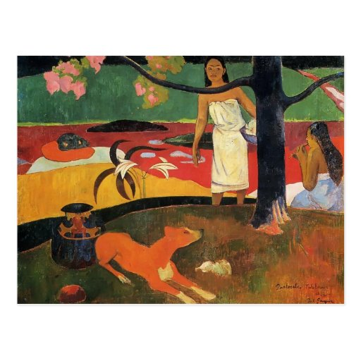 Paul Gauguin- Tahitian pastorale Post Card